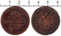 Изображение Монеты Австрия 3 крейцера 1851 Медь XF-