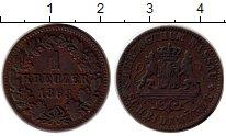 Изображение Монеты Германия Нассау 1 крейцер 1863 Медь XF