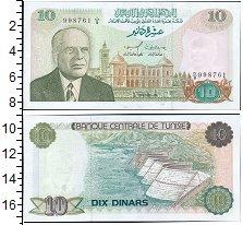Банкнота Тунис 10 динар 1980 UNC фото