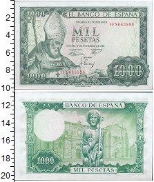 Банкнота Испания 1000 песет 1965 UNC- фото