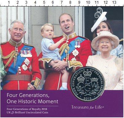 Изображение Подарочные монеты Великобритания 5 фунтов 2018 Медно-никель UNC Монета 4 поколения