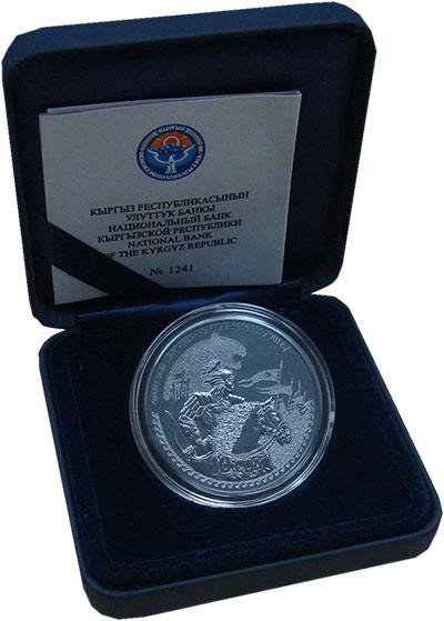 Изображение Монеты Кыргызстан 10 сом 2014 Серебро Proof