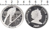 Монета Острова Кука 1 доллар Серебро 2002 Proof фото