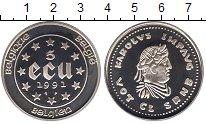 Изображение Монеты Бельгия 5 экю 1991 Серебро Proof