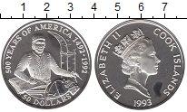 Изображение Монеты Новая Зеландия Острова Кука 50 долларов 1993 Серебро Proof