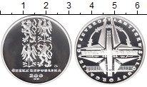Изображение Монеты Чехия 200 крон 1999 Серебро Proof
