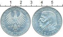 Изображение Монеты ФРГ 5 марок 1964 Серебро UNC-