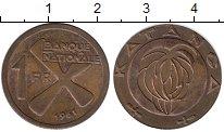 Изображение Монеты Конго Катанга 1 франк 1961 Бронза XF+