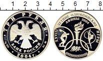 Монета Россия 3 рубля Серебро 2004 Proof- фото