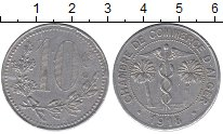 Изображение Монеты Алжир 10 сантим 1918 Алюминий XF
