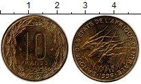 Изображение Монеты Центральная Африка 10 франков 1996 Латунь XF