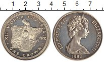 Изображение Монеты Великобритания Остров Мэн 1 крона 1982 Серебро Proof-