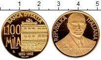 Изображение Монеты Италия 100000 лир 1993 Золото Proof-