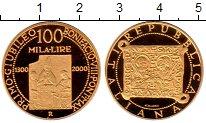 Изображение Монеты Италия 100000 лир 2000 Золото Proof-