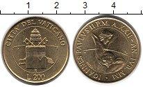Изображение Монеты Ватикан 200 лир 2000 Латунь UNC-