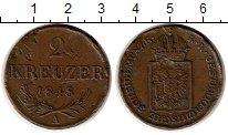 Изображение Монеты Австрия 2 крейцера 1848 Медь VF
