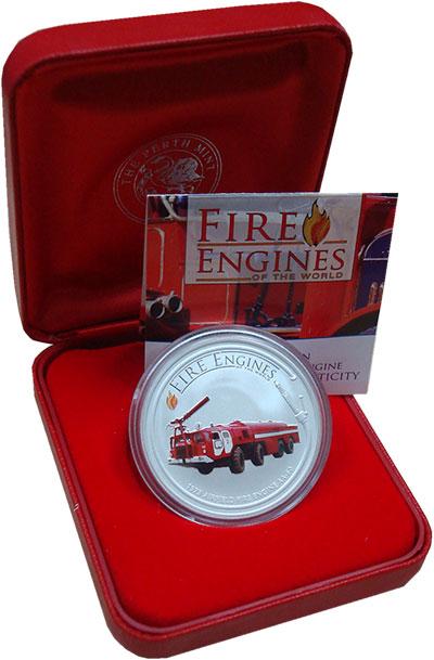 Изображение Монеты Острова Кука 1 доллар 2006 Серебро UNC- История пожарной тех