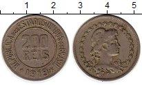 Изображение Монеты Бразилия 200 рейс 1919 Медно-никель XF