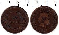 Изображение Монеты Португалия 20 рейс 1892 Бронза XF-