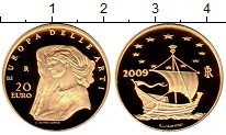 Изображение Монеты Италия 20 евро 2009 Золото Proof