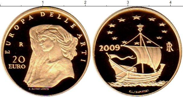 Картинка Монеты Италия 20 евро Золото 2009