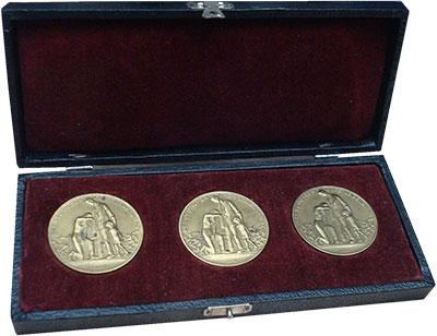 Изображение Значки, ордена, медали Веймарская республика Набор медалей 1923 Латунь XF+ Набор инфляционных м