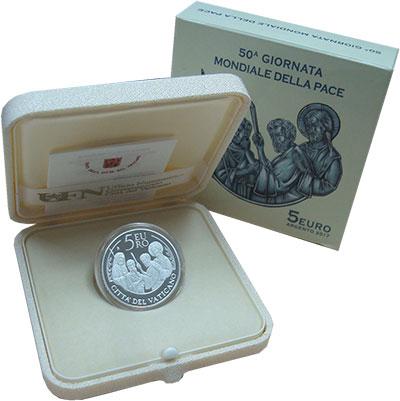 Изображение Подарочные монеты Ватикан 5 евро 2017 Серебро Proof