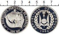 Изображение Монеты Джибути 100 франков 1996 Серебро Proof