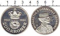 Изображение Монеты Дания 200 крон 1990 Серебро Proof