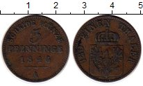 Изображение Монеты Германия Пруссия 3 пфеннига 1846 Медь XF