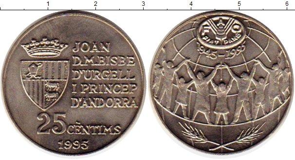 Картинка Монеты Андорра 25 сентим Медно-никель 1995