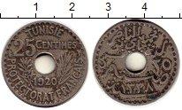 Изображение Монеты Тунис 25 сантим 1920 Медно-никель XF-