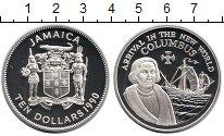 Изображение Монеты Ямайка 10 долларов 1990 Серебро Proof