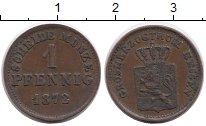 Изображение Монеты Германия Гессен-Дармштадт 1 пфенниг 1872 Медь XF