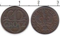 Изображение Монеты Польша 1 грош 1939 Бронза XF
