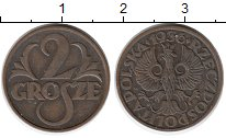 Изображение Монеты Польша 2 гроша 1936 Бронза XF
