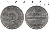 Изображение Монеты ГДР 5 марок 1984 Медно-никель UNC-