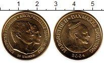 Изображение Мелочь Дания 20 крон 2004 Латунь UNC