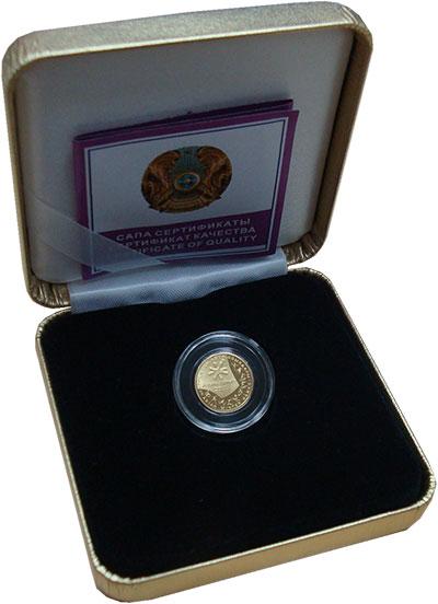 Изображение Подарочные монеты Казахстан 100 тенге 2010 Золото Proof VII  Азиатские  Зимн