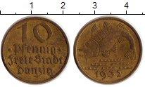 Изображение Монеты Польша Данциг 10 пфеннигов 1932 Латунь XF