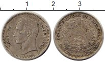 Изображение Монеты Венесуэла 1 боливар 1946 Серебро VF