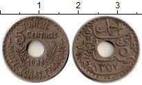 Изображение Монеты Тунис 5 сантим 1938 Медно-никель XF