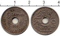 Изображение Монеты Тунис 5 сантим 1919 Медно-никель XF