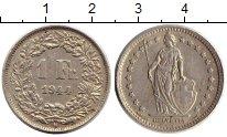 Изображение Монеты Швейцария 1 франк 1944 Серебро XF