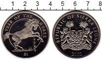 Монета Сьерра-Леоне 1 доллар Медно-никель 2002 UNC- фото