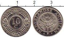 Изображение Монеты Нидерланды Антильские острова 10 центов 2004 Медно-никель UNC-