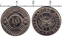Изображение Монеты Нидерланды Антильские острова 10 центов 1999 Медно-никель UNC-