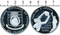 Изображение Монеты Конго 500 франков 1994 Серебро Proof-