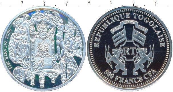 Картинка Монеты Того 500 франков Серебро 2013