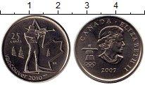 Изображение Монеты Канада 25 центов 2007 Медно-никель UNC
